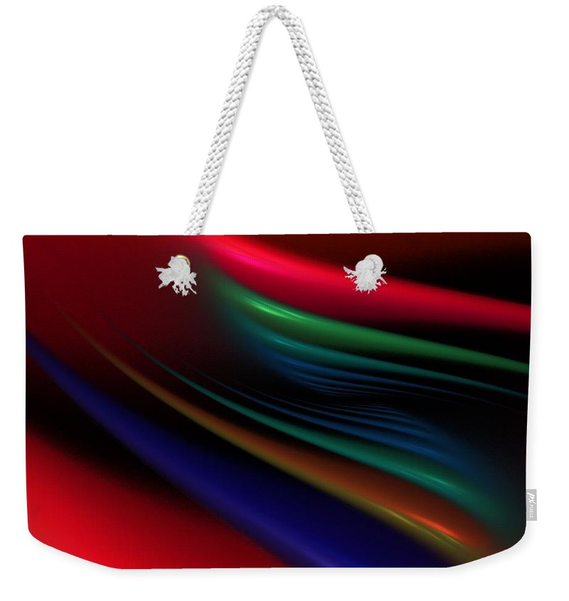Digital Painting Weekender Tote Bag featuring the digital art The Light Fantastic by David Lane