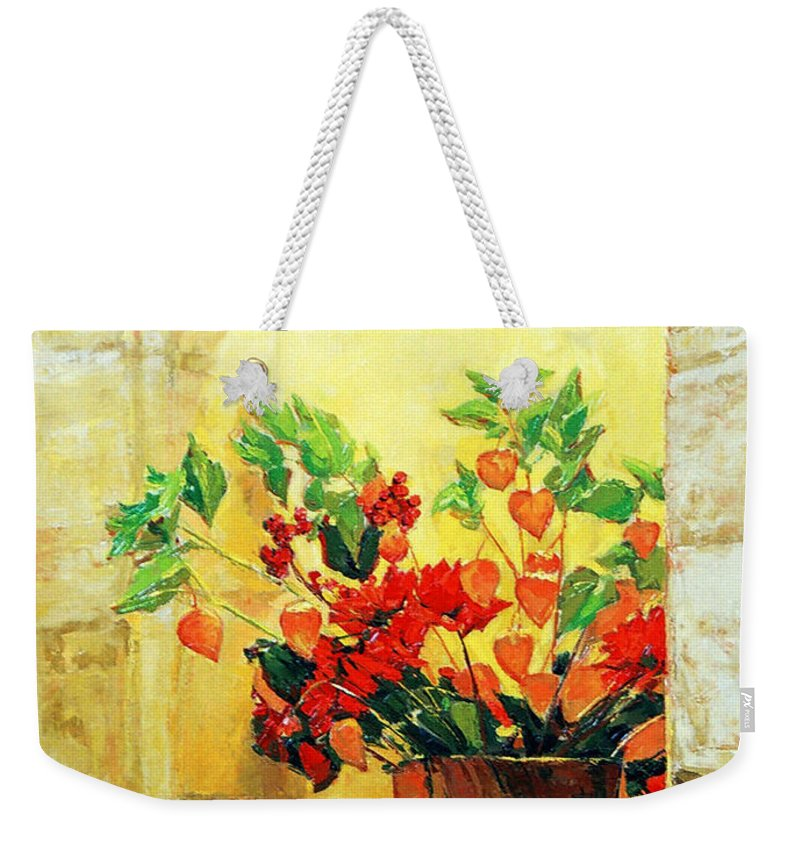 Still Life Weekender Tote Bag featuring the painting The Light by Iliyan Bozhanov