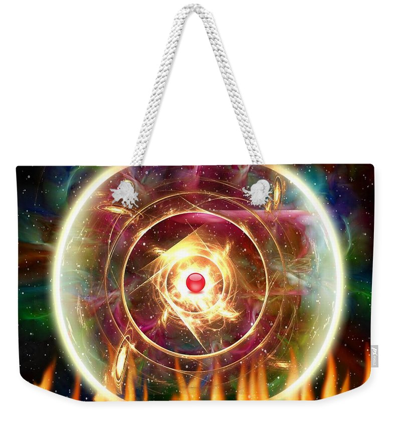 Fractal Art Weekender Tote Bag featuring the digital art The Light Of Life by Mario Carini