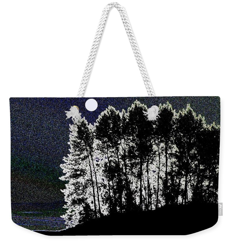 Moon Weekender Tote Bag featuring the digital art The Light Of The Moon by Will Borden