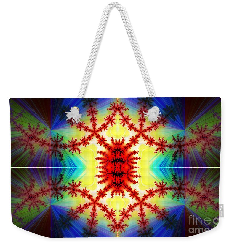 Clay Weekender Tote Bag featuring the digital art The Light Within by Clayton Bruster