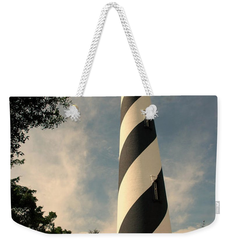 Lighthouse Weekender Tote Bag featuring the photograph The Lighthouse In St.augustin Fl by Susanne Van Hulst