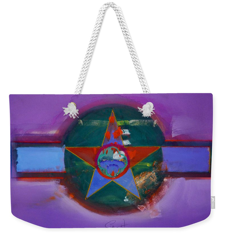 Star Weekender Tote Bag featuring the painting The Lighthouse Keeper by Charles Stuart