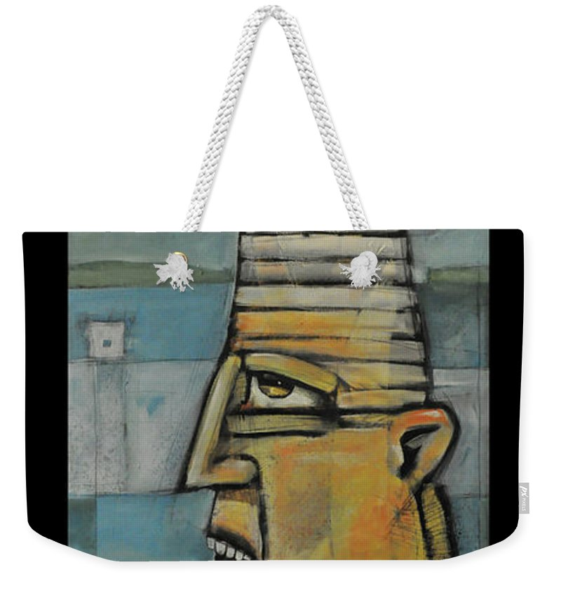 Lighthouse Weekender Tote Bag featuring the painting The Lighthouse Keeper Poster by Tim Nyberg