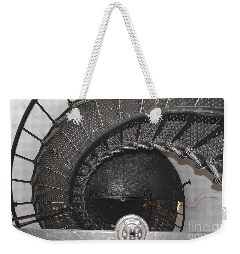 Lighthouse Weekender Tote Bag featuring the photograph The Lighthouse Stairs by Jost Houk
