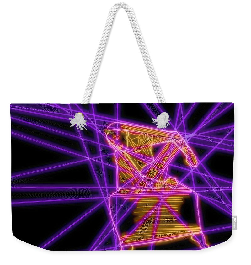 Martha Graham Weekender Tote Bag featuring the drawing The Lines Of Martha Graham L Tech by Dale Crum