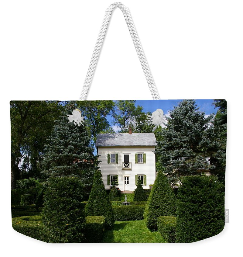 House Weekender Tote Bag featuring the photograph The Little White House by Tom Reynen
