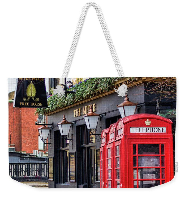 London Weekender Tote Bag featuring the photograph The Local by Heather Applegate
