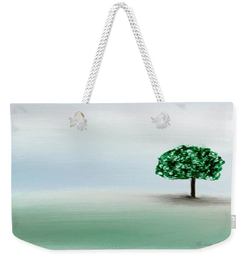 Custom Weekender Tote Bag featuring the painting The Lone Tree by Gina Lee Manley