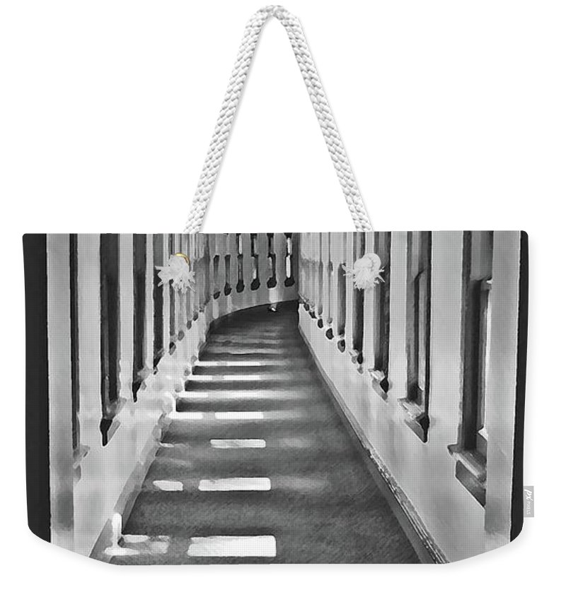 Hallway Weekender Tote Bag featuring the photograph The Long Hall by Jost Houk