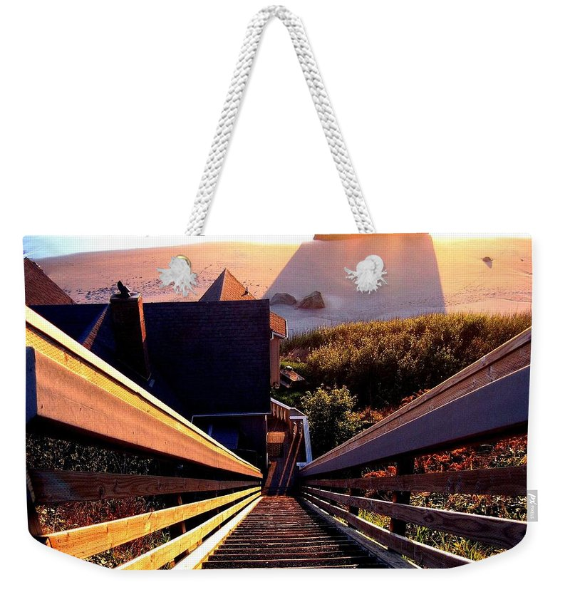 Stairway Weekender Tote Bag featuring the photograph The Long Long Stairway  by Will Borden