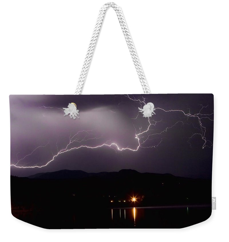 Lightning Photography Weekender Tote Bag featuring the photograph The Long Strike by James BO Insogna