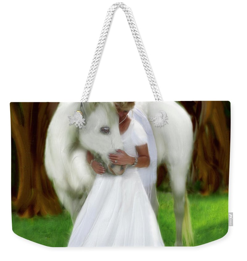 Bride Of Christ Art Weekender Tote Bag featuring the painting The Longing 2 by Constance Woods