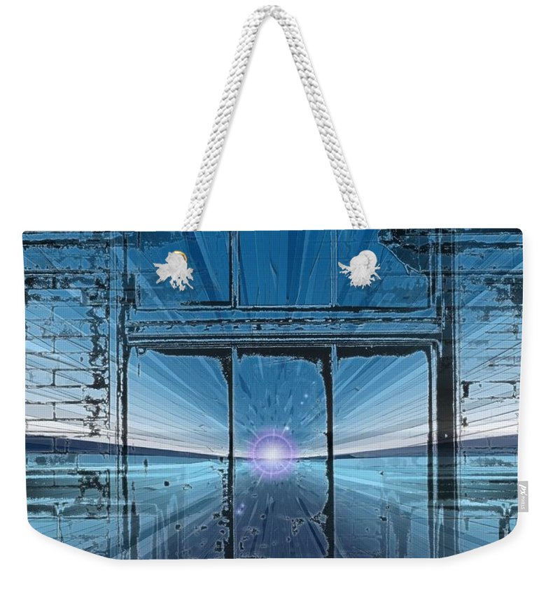 Weekender Tote Bag featuring the digital art The Looking Glass by Tim Allen