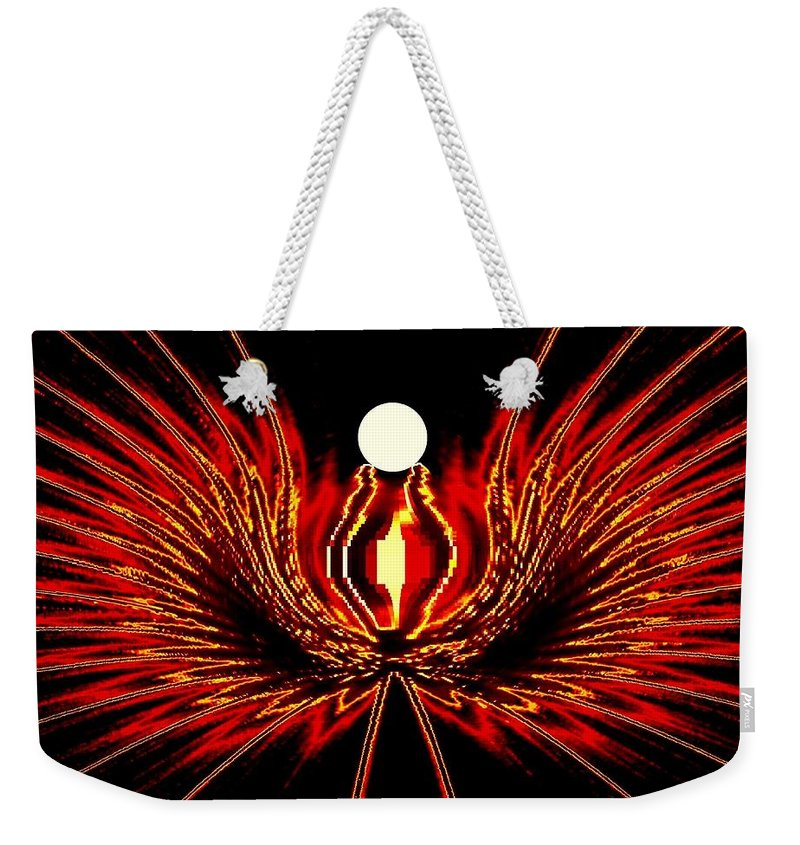 Abstract Weekender Tote Bag featuring the digital art The Lost Pearl by Will Borden