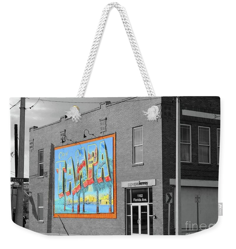 Tampa Weekender Tote Bag featuring the photograph The Lost Tampa Postcard by Jost Houk
