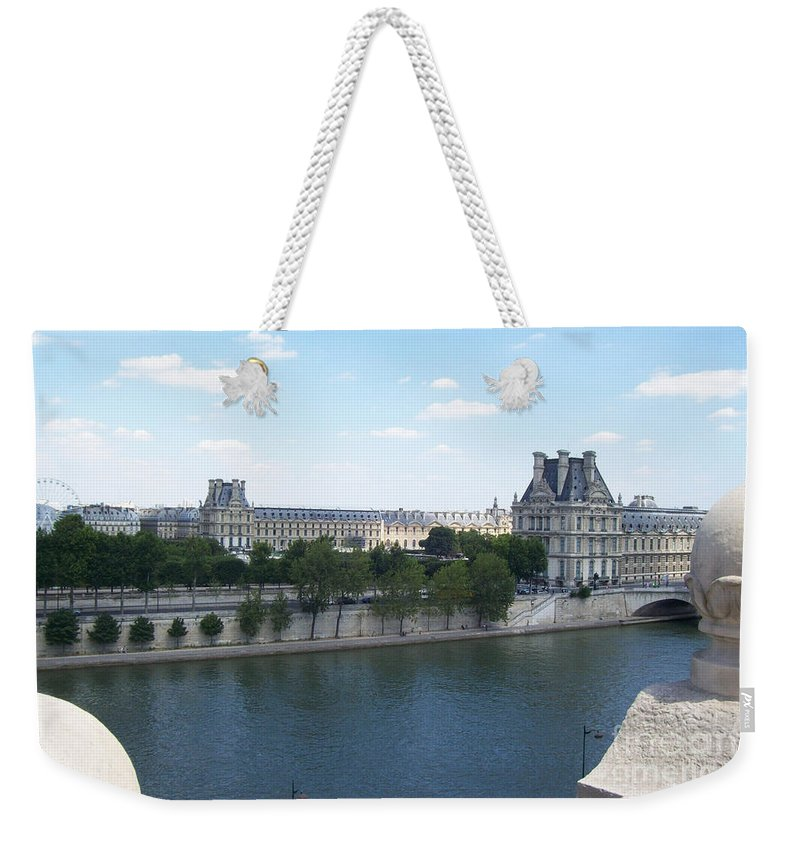 Human Weekender Tote Bag featuring the photograph The Louvre by Mary Mikawoz