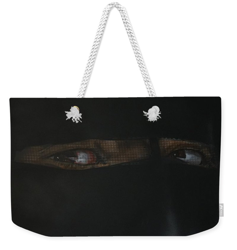 Burqa Weekender Tote Bag featuring the painting The Lovely Bride Hyphemas Portrait by Eric Dee