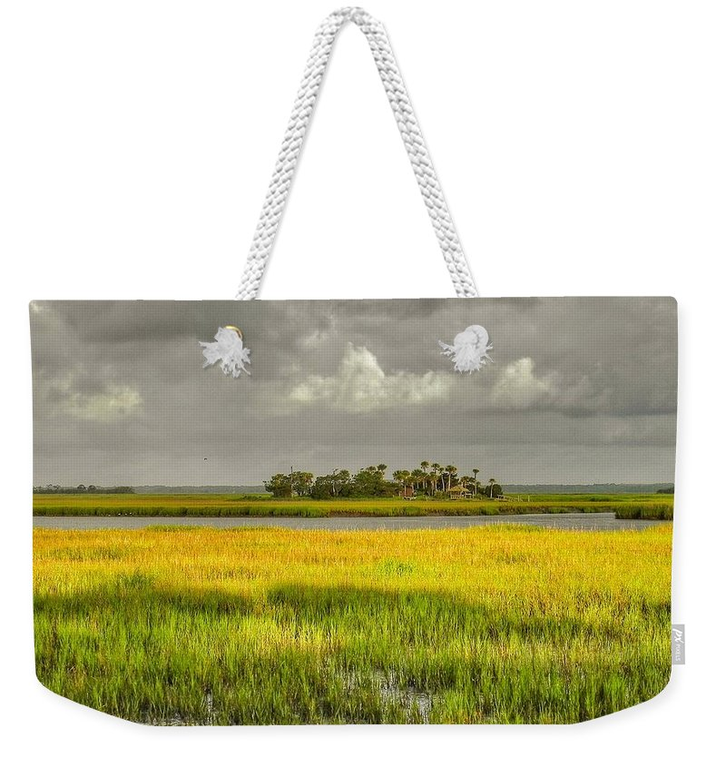 Marsh Weekender Tote Bag featuring the photograph The Lovely Low Country by Patricia Greer