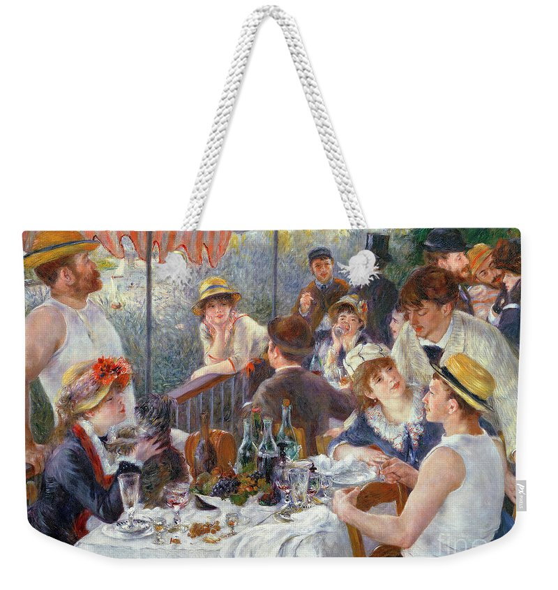 The Weekender Tote Bag featuring the painting The Luncheon of the Boating Party by Pierre Auguste Renoir