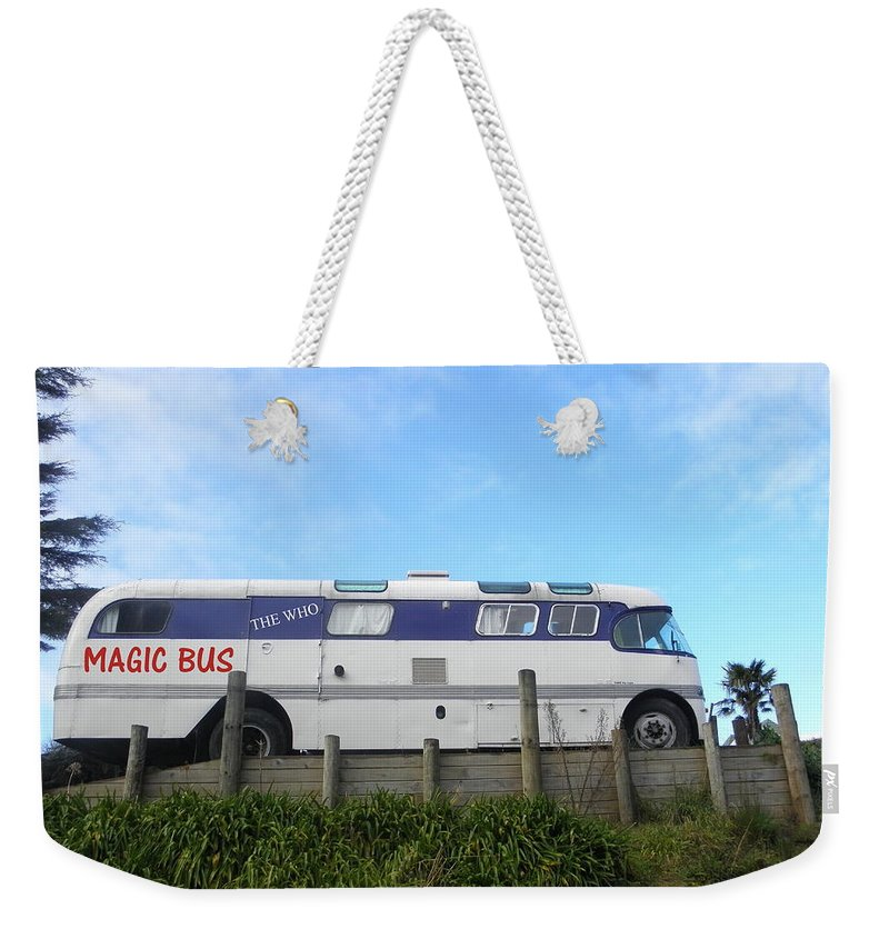 Who Weekender Tote Bag featuring the photograph The Magic Bus by Paul Pettingell