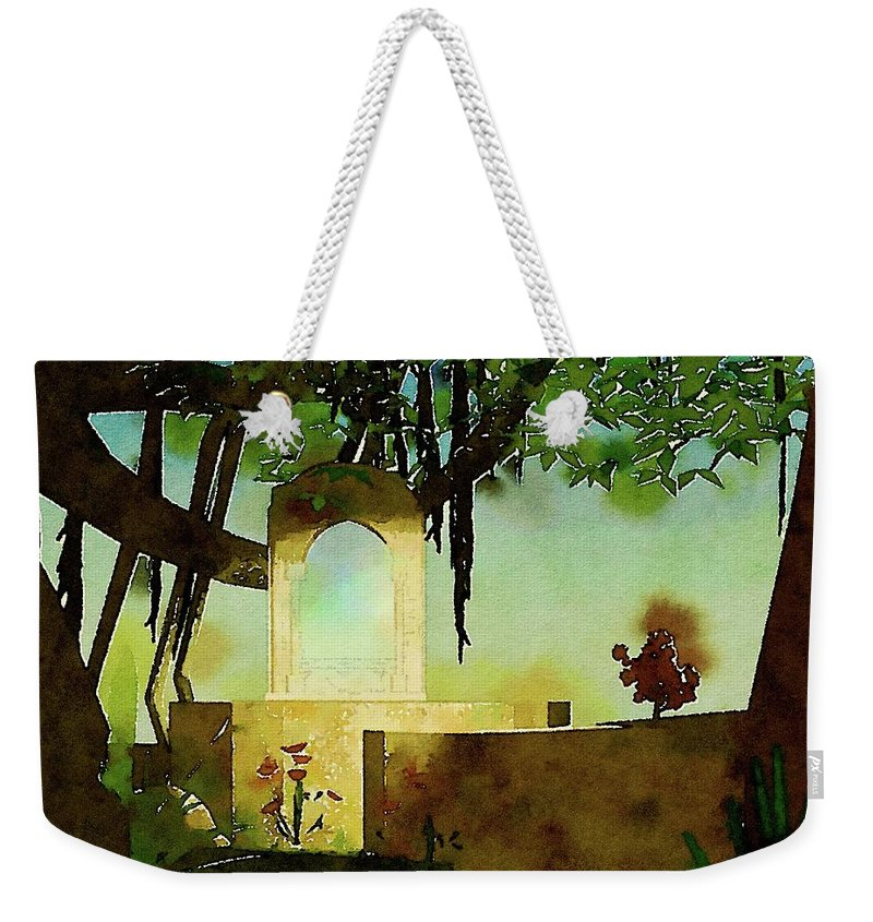 Magic Weekender Tote Bag featuring the painting The Magic Mirror by Pierre Blanchard