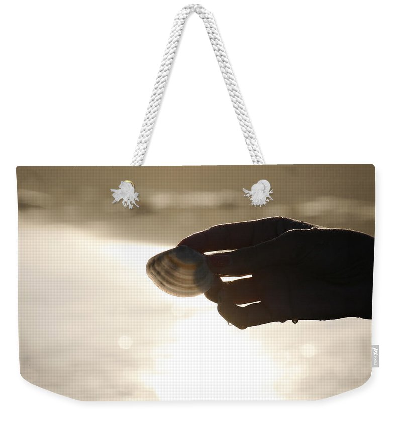 Hand Weekender Tote Bag featuring the photograph The Magic Of Light by Marilyn Hunt