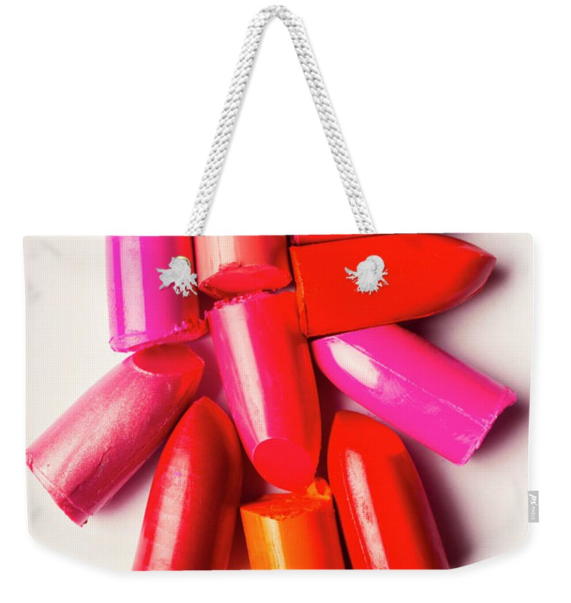 Beauty Weekender Tote Bag featuring the photograph The makeup breakup by Jorgo Photography - Wall Art Gallery
