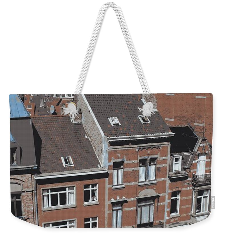 Brussels Weekender Tote Bag featuring the photograph The Many Layers Of Brussels by Carol Groenen
