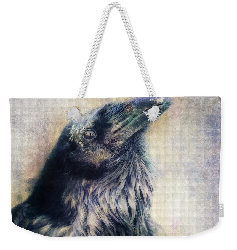 Raven Weekender Tote Bag featuring the photograph The Many Shades Of Black by Priska Wettstein