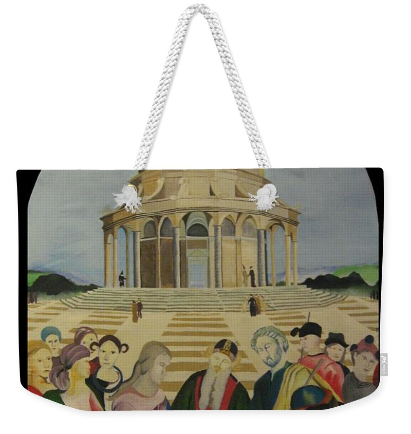 Weekender Tote Bag featuring the painting The Marriage Of The Virgin by Ronnie Lee