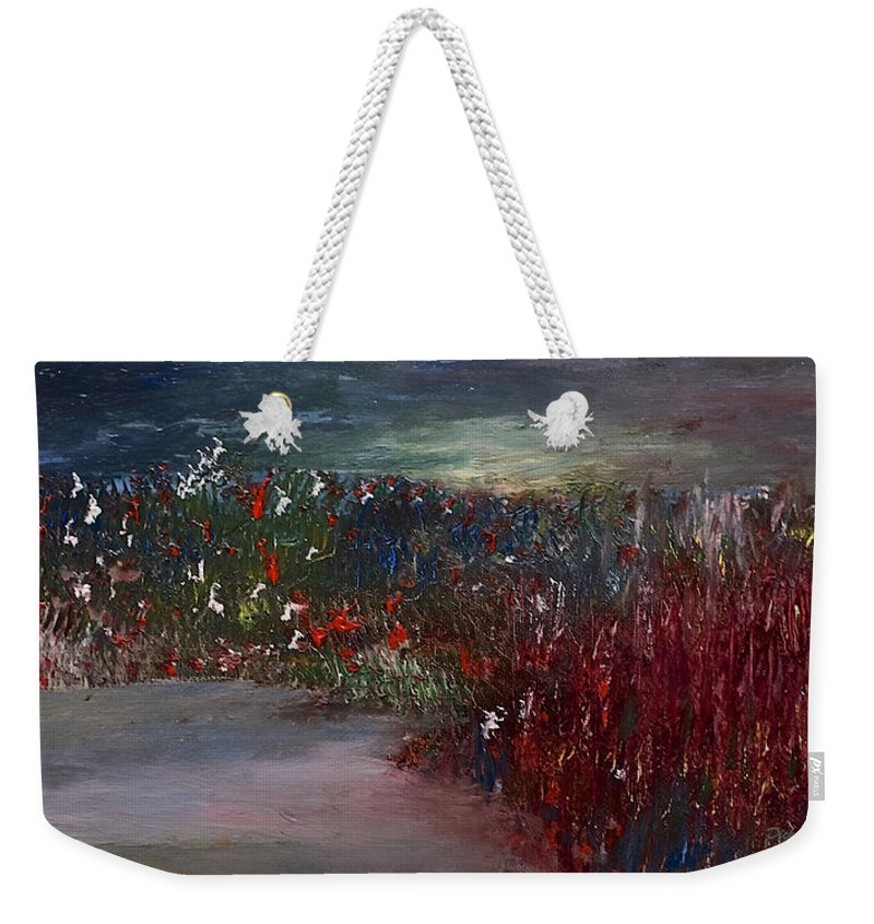 Pond Weekender Tote Bag featuring the painting The Marsh by Dick Bourgault