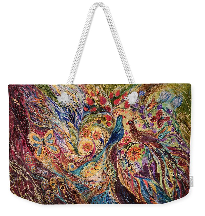 Original Weekender Tote Bag featuring the painting The Mediterranean Summer by Elena Kotliarker