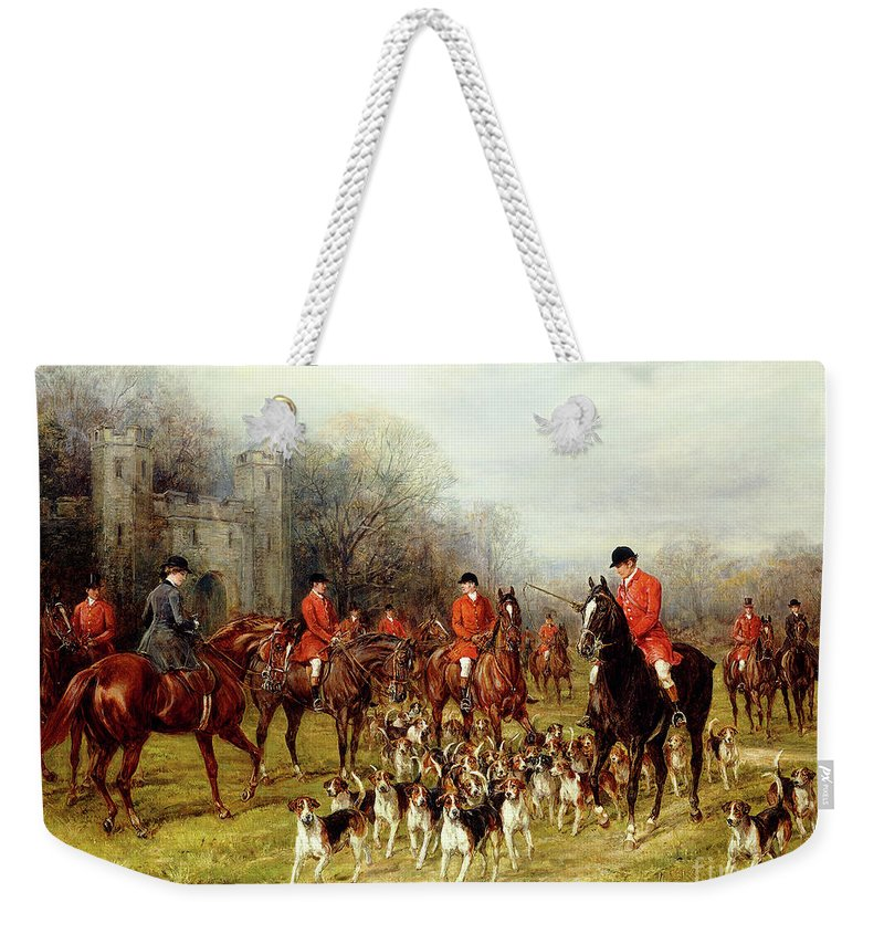 The Meet Weekender Tote Bag featuring the painting The Meet by Heywood Hardy