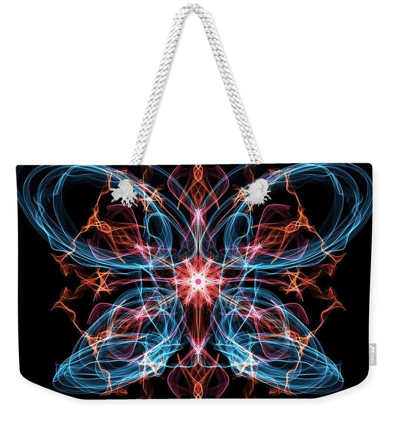 Butterfly Weekender Tote Bag featuring the digital art The Metamorphosis by Marisa Al