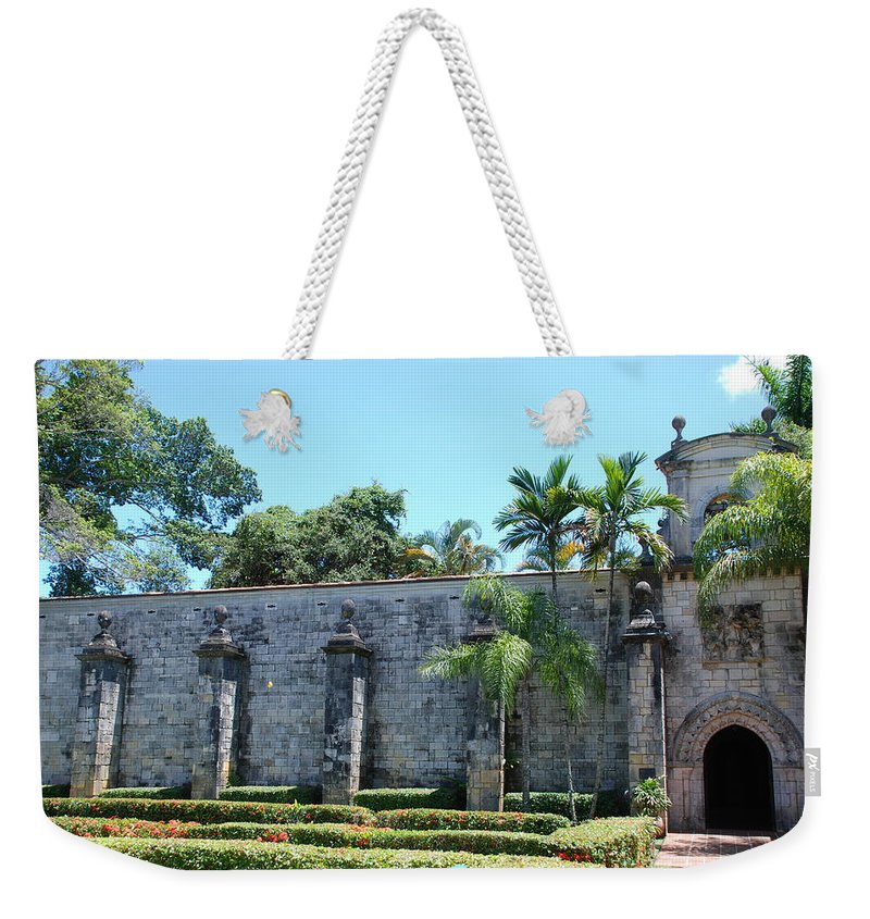 Florida Weekender Tote Bag featuring the photograph The Miami Monastery by Rob Hans