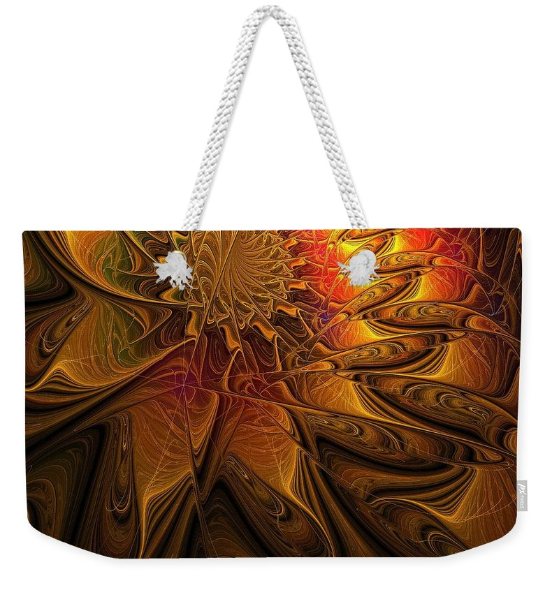 Digital Art Weekender Tote Bag featuring the digital art The Midas Touch by Amanda Moore
