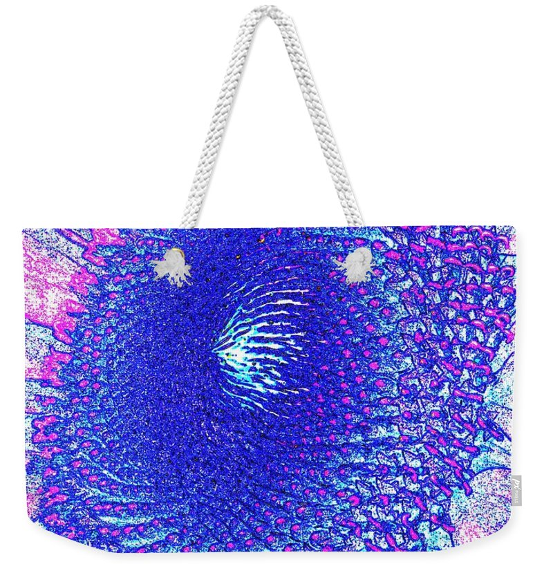 Flower Weekender Tote Bag featuring the digital art The Middle by Ian MacDonald