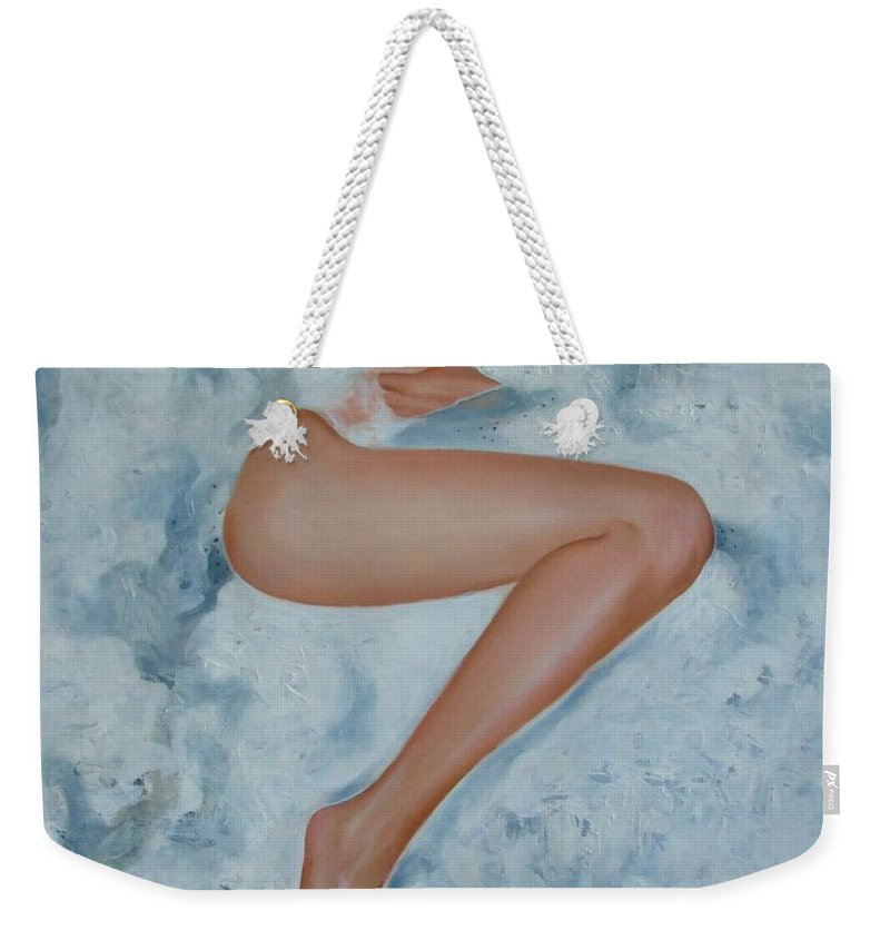Art Weekender Tote Bag featuring the painting The Milk Bath by Sergey Ignatenko