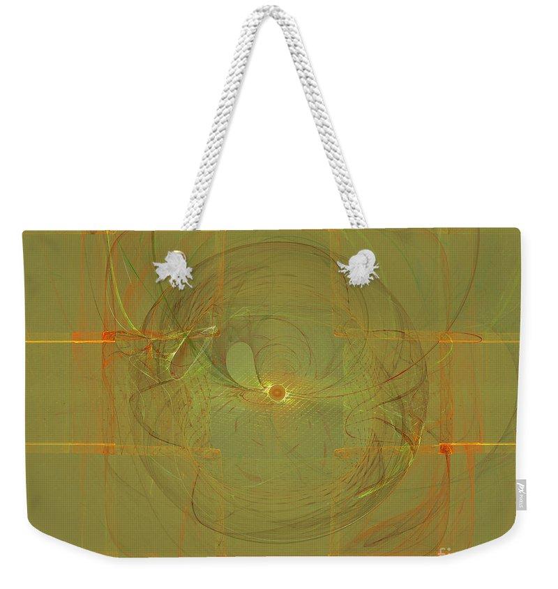 Apophysis Weekender Tote Bag featuring the digital art The Minds Eye by Deborah Benoit
