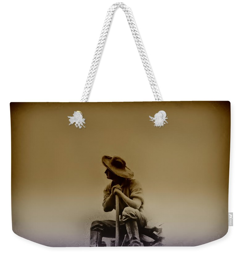 Philadelphia Weekender Tote Bag featuring the photograph The Miner by Bill Cannon