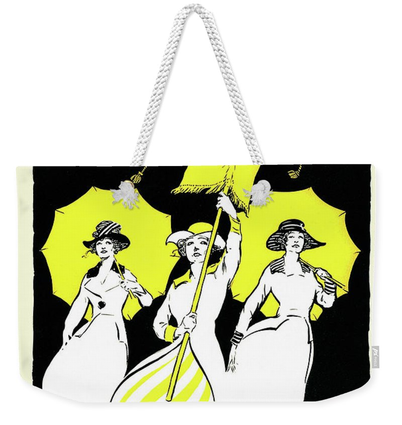 Suffrage Weekender Tote Bag featuring the drawing The Missouri Woman From June 1916, The Suffrage Issue by American School