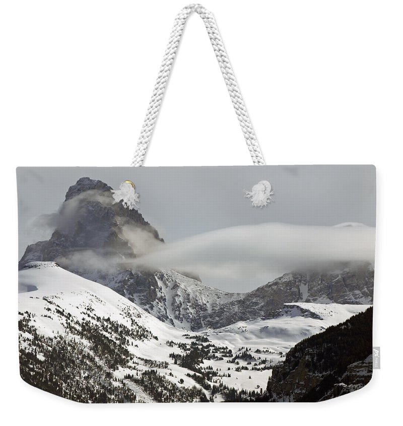 Landscape Weekender Tote Bag featuring the photograph The Misty Grand by DeeLon Merritt