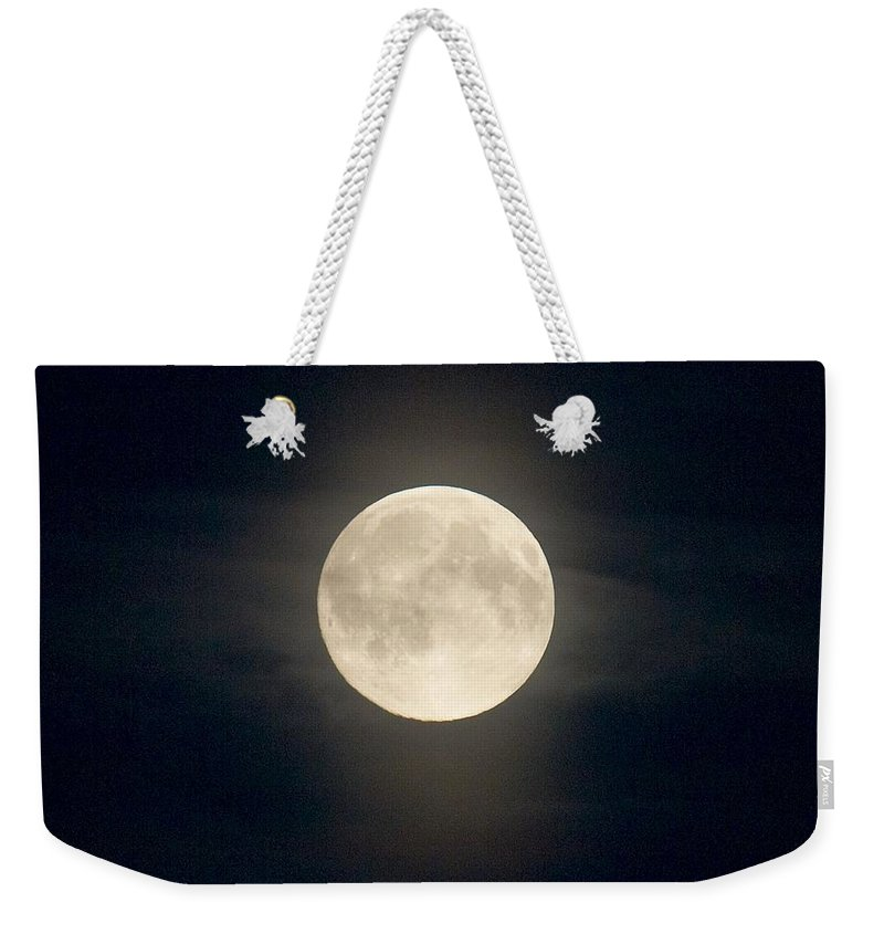 Lehtokukka Weekender Tote Bag featuring the photograph The Moon 2 by Jouko Lehto