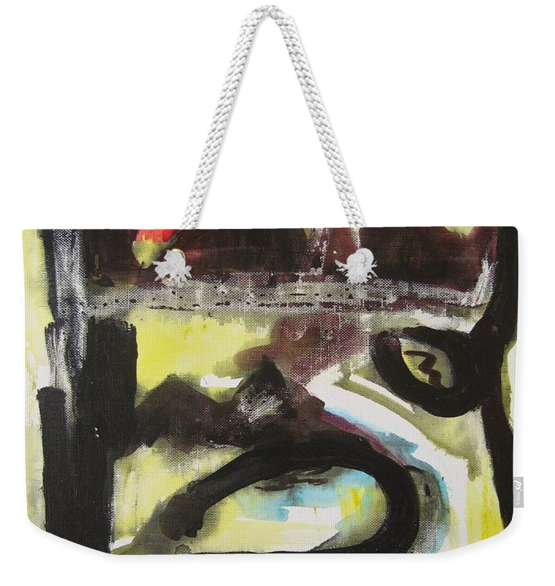 Abstract Paintings Weekender Tote Bag featuring the painting The Moon Compassionate by Seon-Jeong Kim