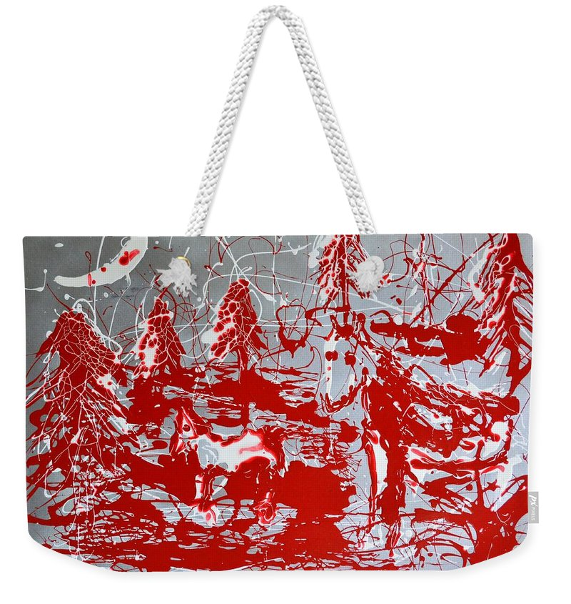 Abstract Weekender Tote Bag featuring the painting The Moonlit Woods by J R Seymour