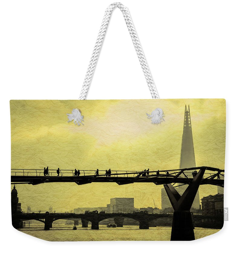 London Weekender Tote Bag featuring the photograph The Morning Commute by Milton Cogheil