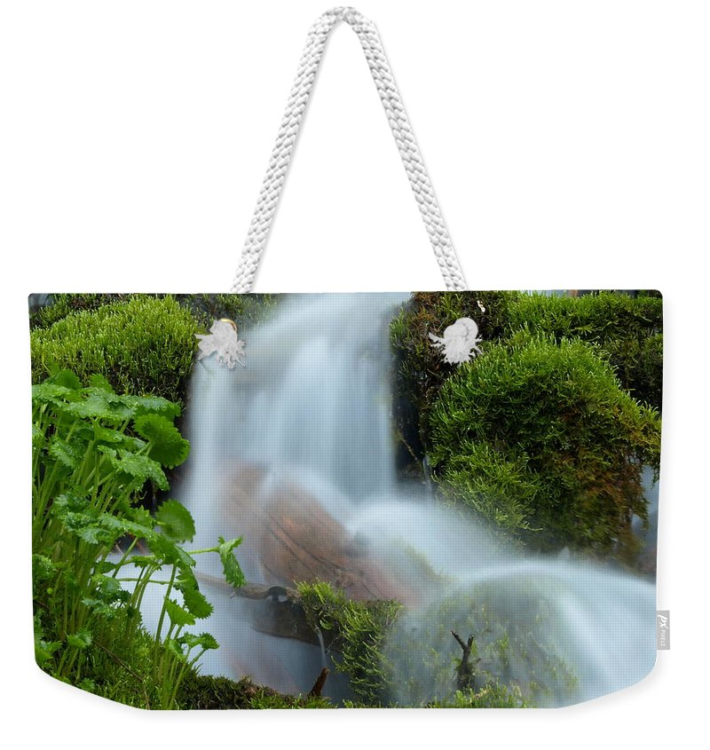 Water Weekender Tote Bag featuring the photograph The Mossy Mist by DeeLon Merritt
