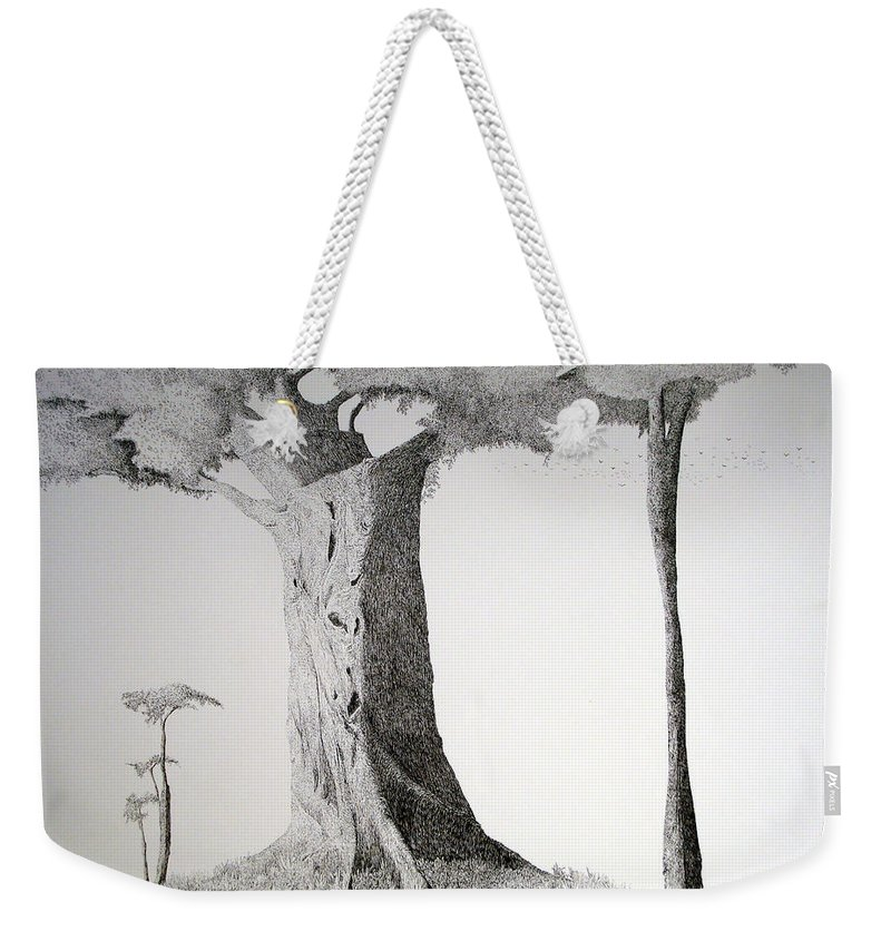 Landscape Weekender Tote Bag featuring the painting The Mother Lode by A Robert Malcom