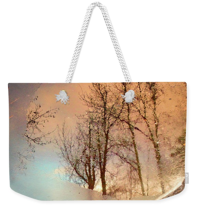 Ice Weekender Tote Bag featuring the photograph The Movement Of Ice by Tara Turner